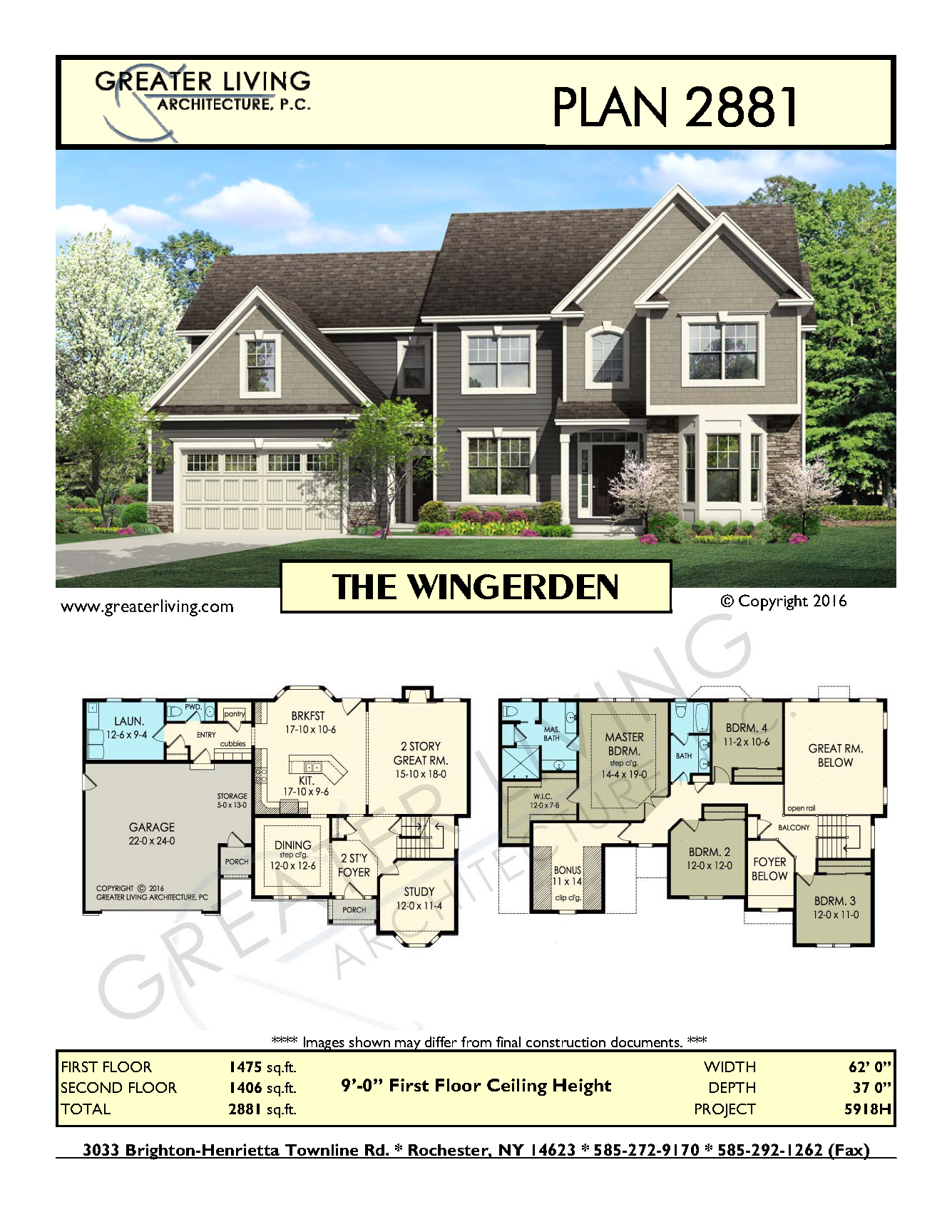 Plan 2881 The Wingerden Two Story House Plan Greater