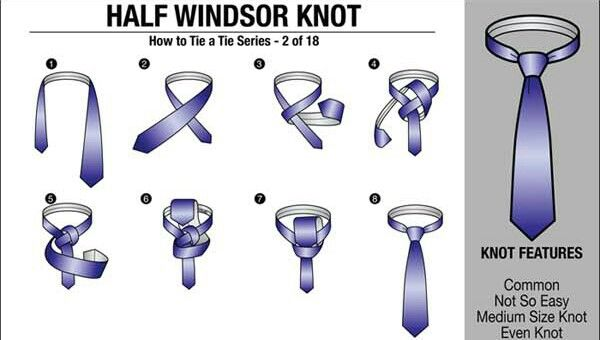 First Impressions Are The Best Half Windsor Windsor Knot Tie Knots