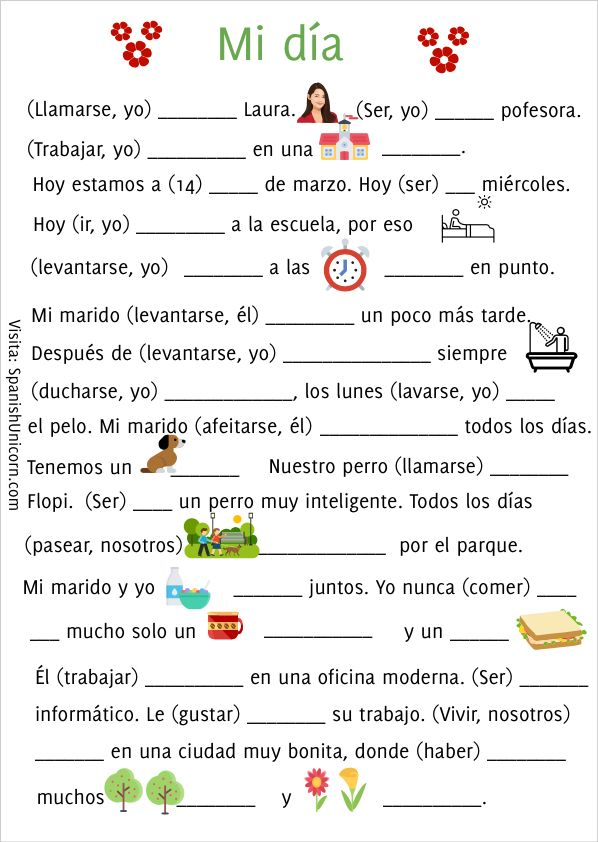 Mi día #learningspanish
