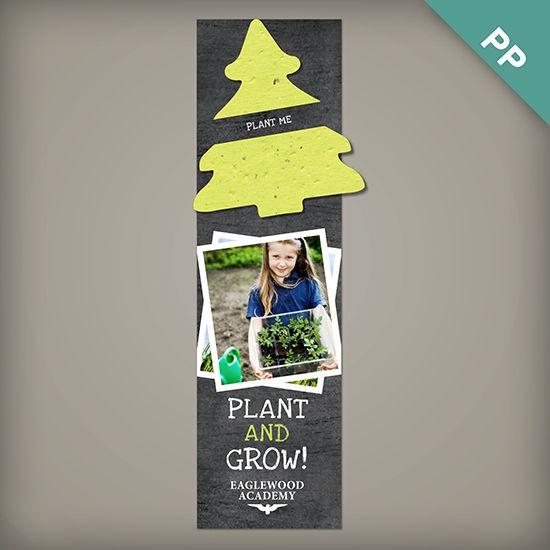 Single-Sided Large Eco Bookmark with Slot
