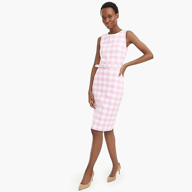9c0fdd18 Belted sheath dress in bi-stretch cotton - Women's Suiting | J.Crew ...