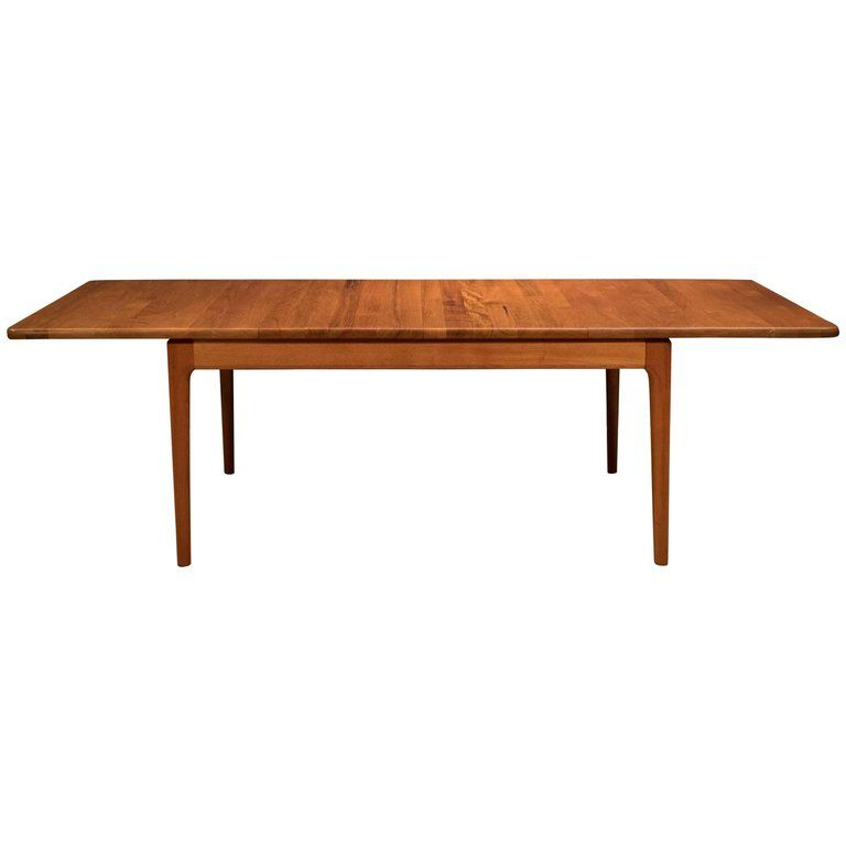 Midcentury Danish Solid Teak Dining Table For Sale About Midcentury Danish Teak Dining Table By Glostrup Mobelfabrik Teak Dining Table Table Dining Table