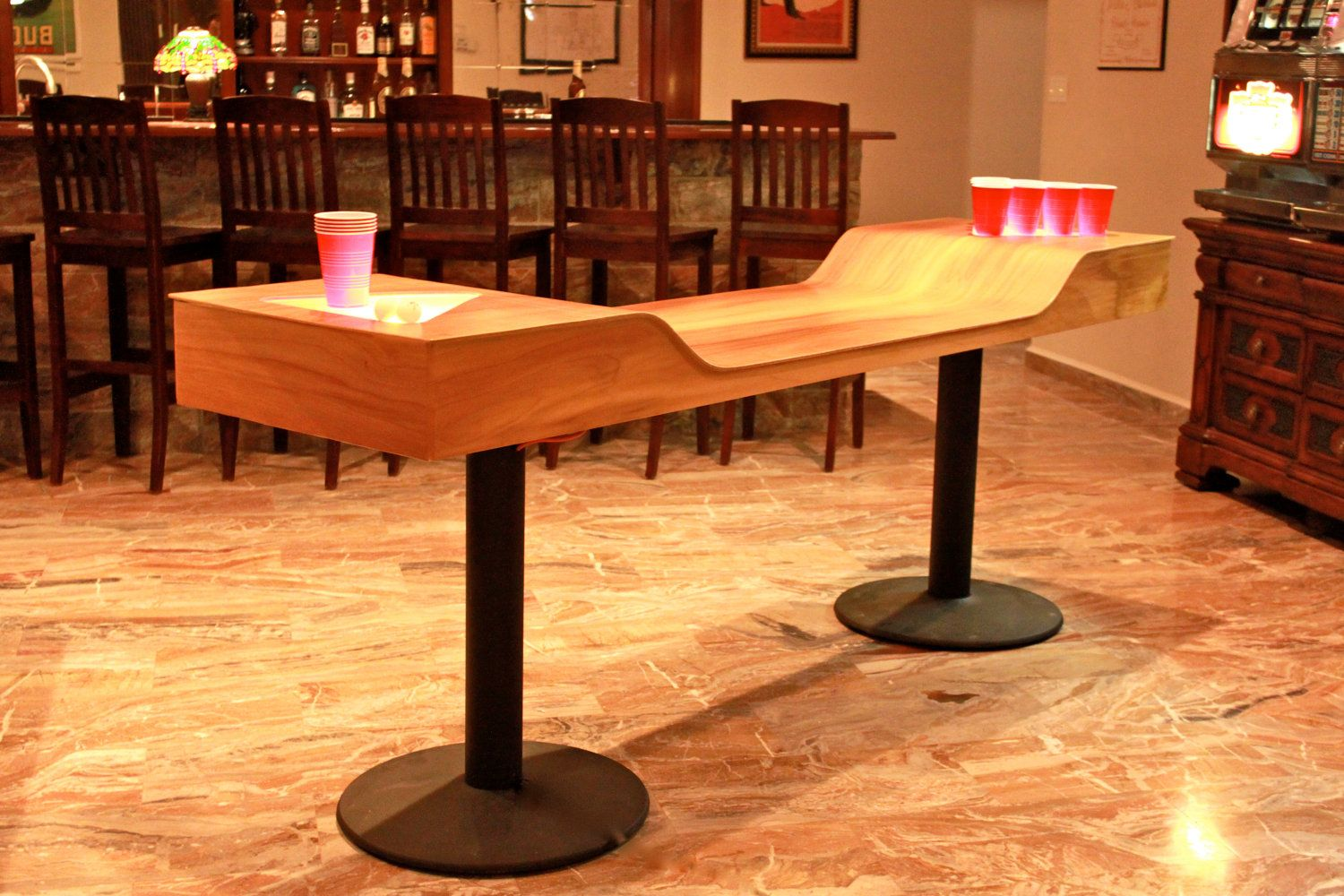 Very Cool Custom Beer Pong Too Bad Having The Coolest
