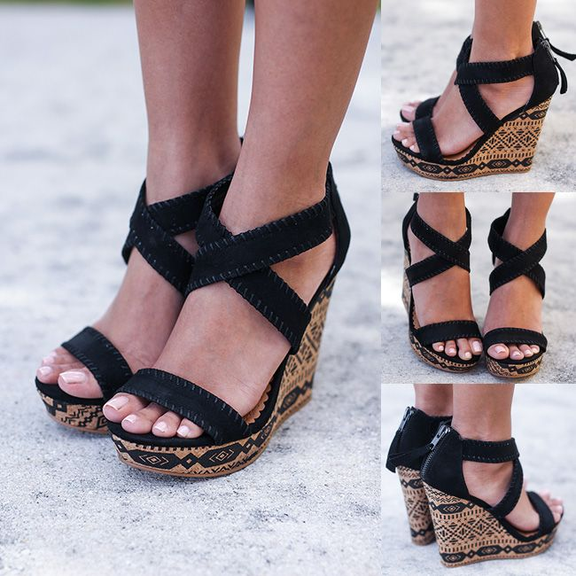 71da8827f2bf Our fab black Remi wedges are finally BACK! Get yours now on our site! Shop  at savedbythedress.com