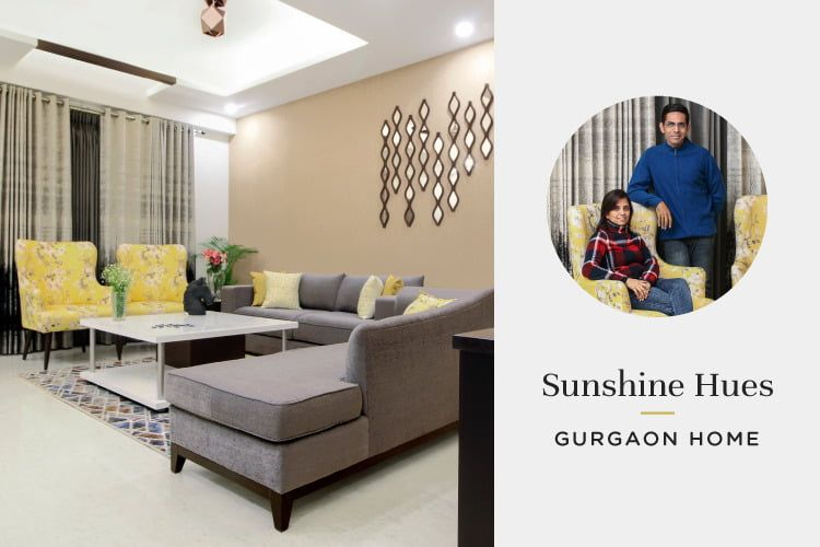 A Bright Gurgaon Home With Glowing Gold Zesty Limes Home