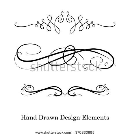 Vector Design Element Beautiful Fancy Curls And Swirls Divider Or Underline Design Black Ink Lines Can Be Placed On Any Vector Design Fancy Design Elements