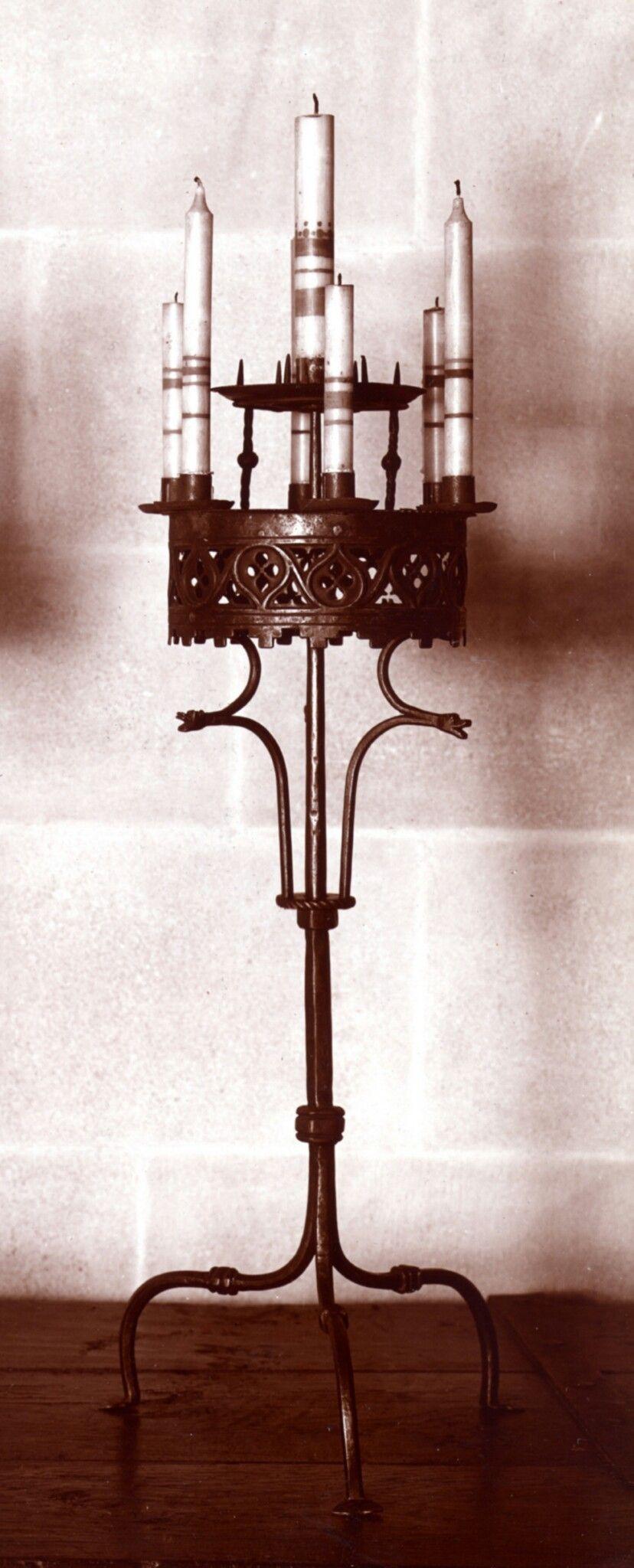 Candelabra Date 15th Century Culture European Medium Iron Gothic Chandelier Chandelier Candle Holder Candelabra