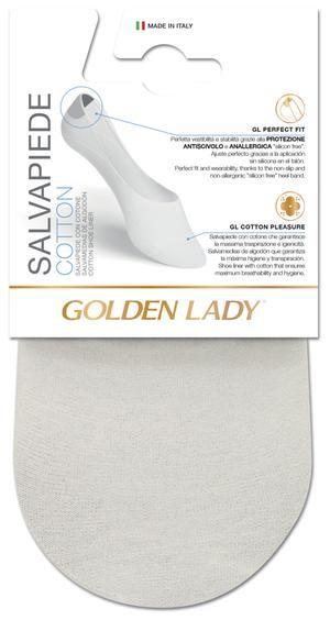 Salvamedias de algodón, sin costuras, higiénicas y transpirables. Con silicona en el talón para mejorar la sujeción.