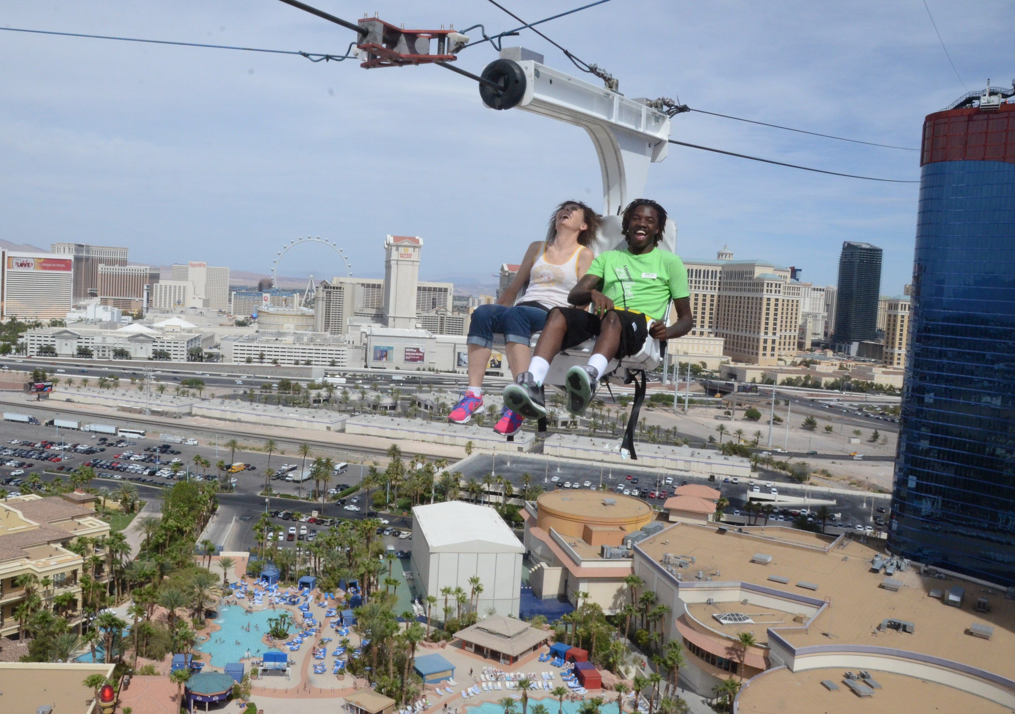 Las Vegas P Now Includes A Ride On The Voodoo Zip Line Between 2 Towers Of Rio