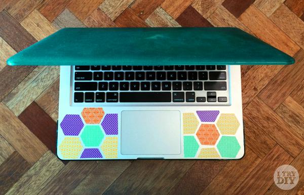 Washi Honeycomb Laptop Decor Macbook Diy Diy Projects Small