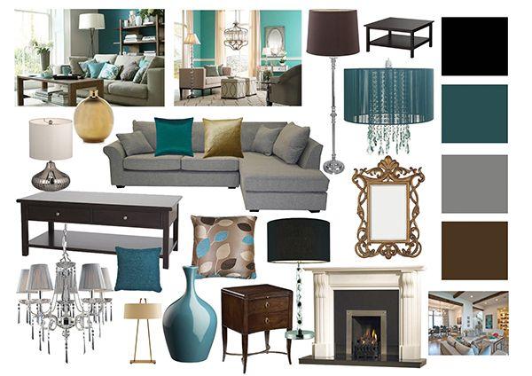 Best Living Room Mood Boards On Behance Teal Living Room 400 x 300