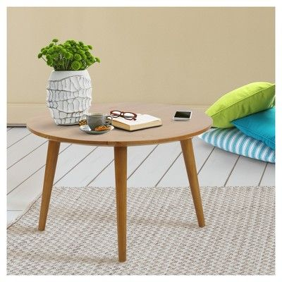 Flora Home Coffee Table Solid Cherry Wood Top Products