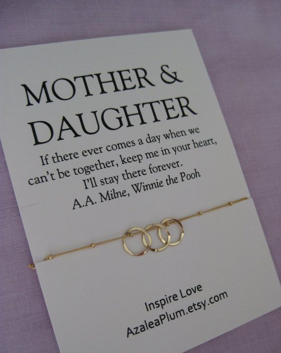 Mom DAUGHTER Jewelry 50th Birthday Gift Mother By AzaleaPlum