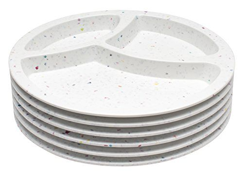 Melamine Divided Plates. Zak! Designs Confetti Divided Plate (Set of 6) Durable and BPA-free Melamine 8   White.  sc 1 st  Pinterest & Melamine Divided Plates. Zak! Designs Confetti Divided Plate (Set of ...