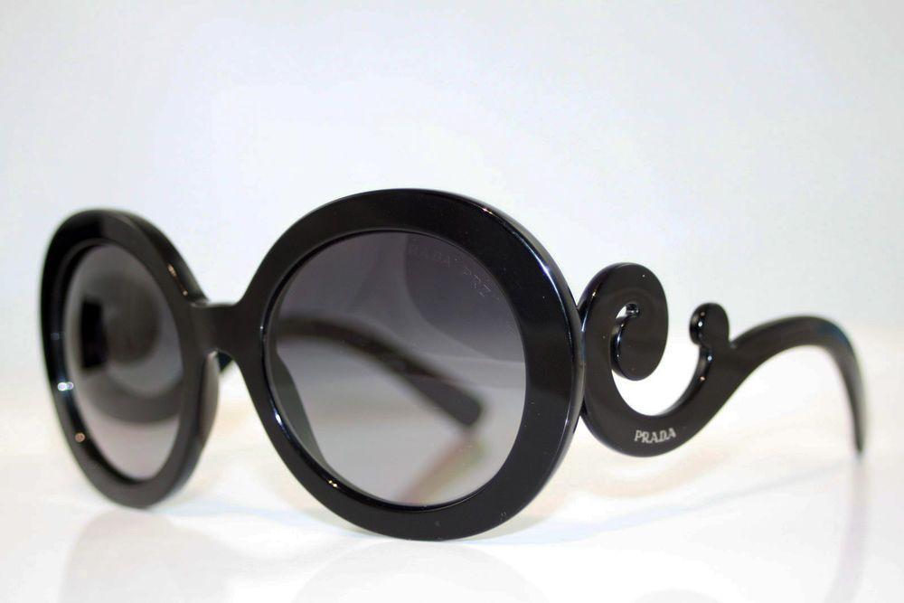 f463ab5c55a PRADA Womens Polarized Sunglasses Black Baroque Swirl SPR 27N 1AB-5W1 16540  (eBay Link)