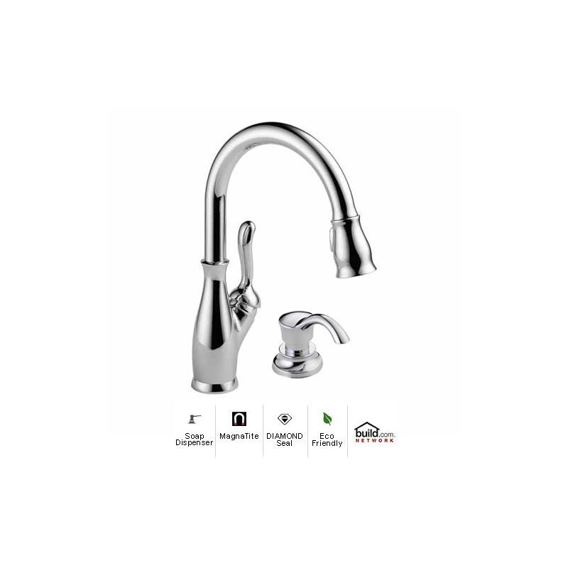 Delta 9178-DST-SD Leland Pull-Down Kitchen Faucet with Magnetic ...