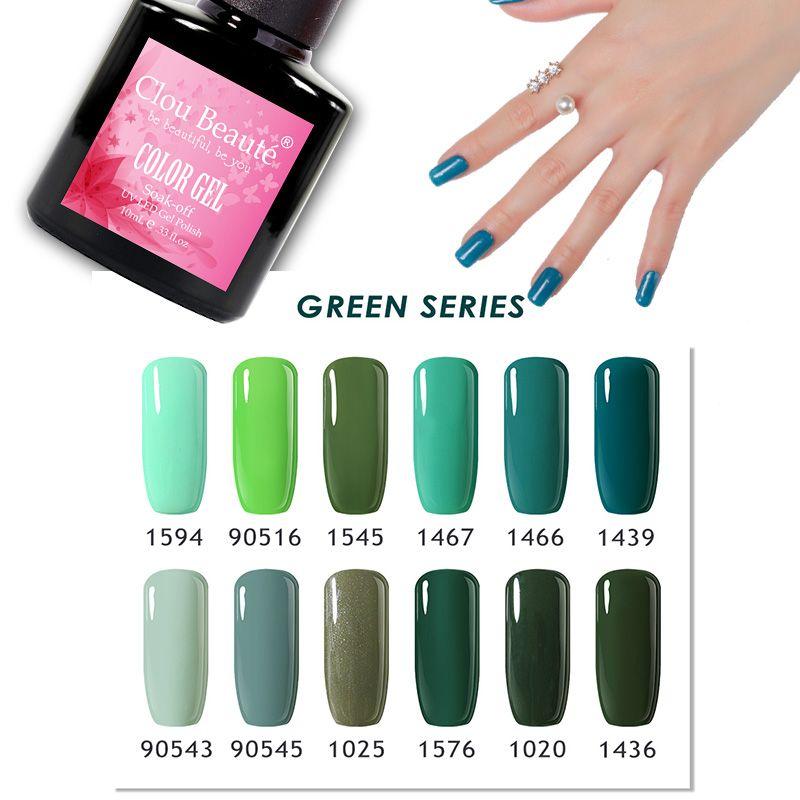 Clou Beaute 15ml Gel Nail Polish 40 Colors LED UV Nail Gel