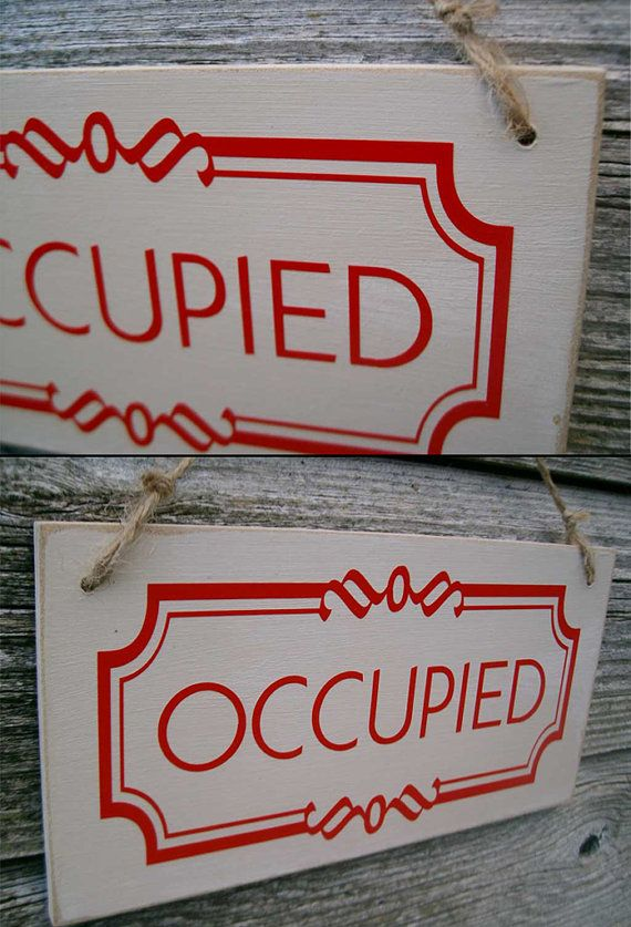 Occupied / Vacant double sided bathroom by FairleyUniqueDecals