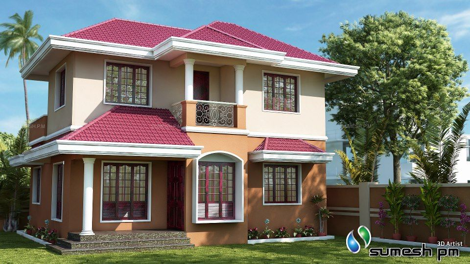 Exterior color combinations for homes is in cool color Indian house color combinations