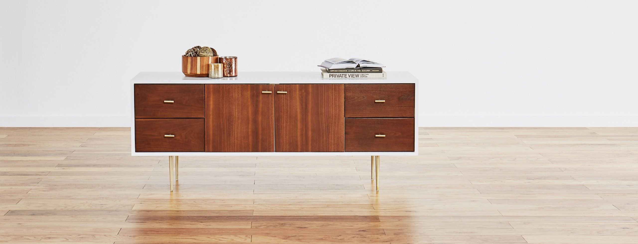 Away All Your Niceties And Necessities In One Stunning Hardwood Media Console That S Sized Smaller To Fit Into Any Room