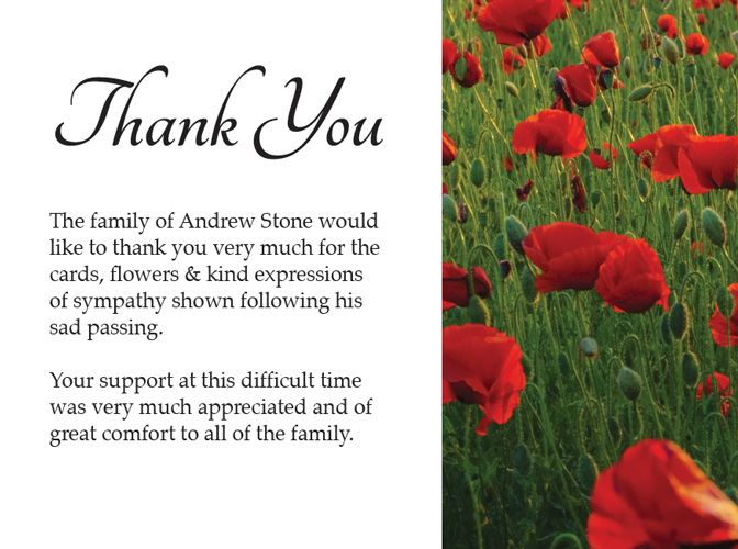 Thank You Attending Funeral
