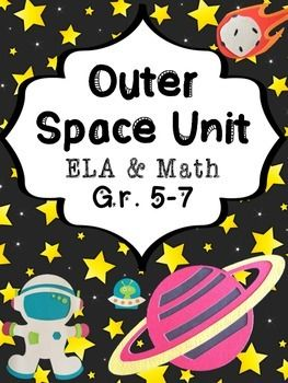 Space themed ELA and math mini unit.Students practice descriptive, creative, and step-by-step writing and upper level math skills (fractions, negative numbers, ordering numbers, expanded/standard/word form, mean, median, mode, range, and more!)