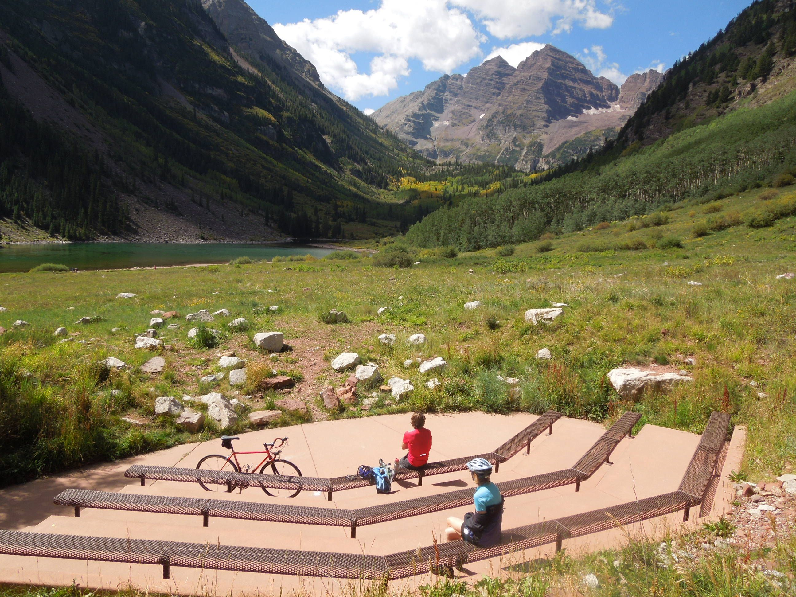 colorado wedding: amphitheater at the maroon bells near aspen. rev