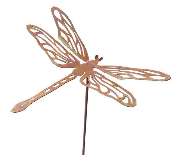 Beautiful Dragonfly Metal 3 D Garden Art