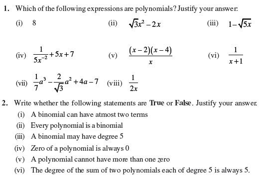 Class 9 Important Questions for Maths - Polynomials exam Pinterest - notice of copyright importance
