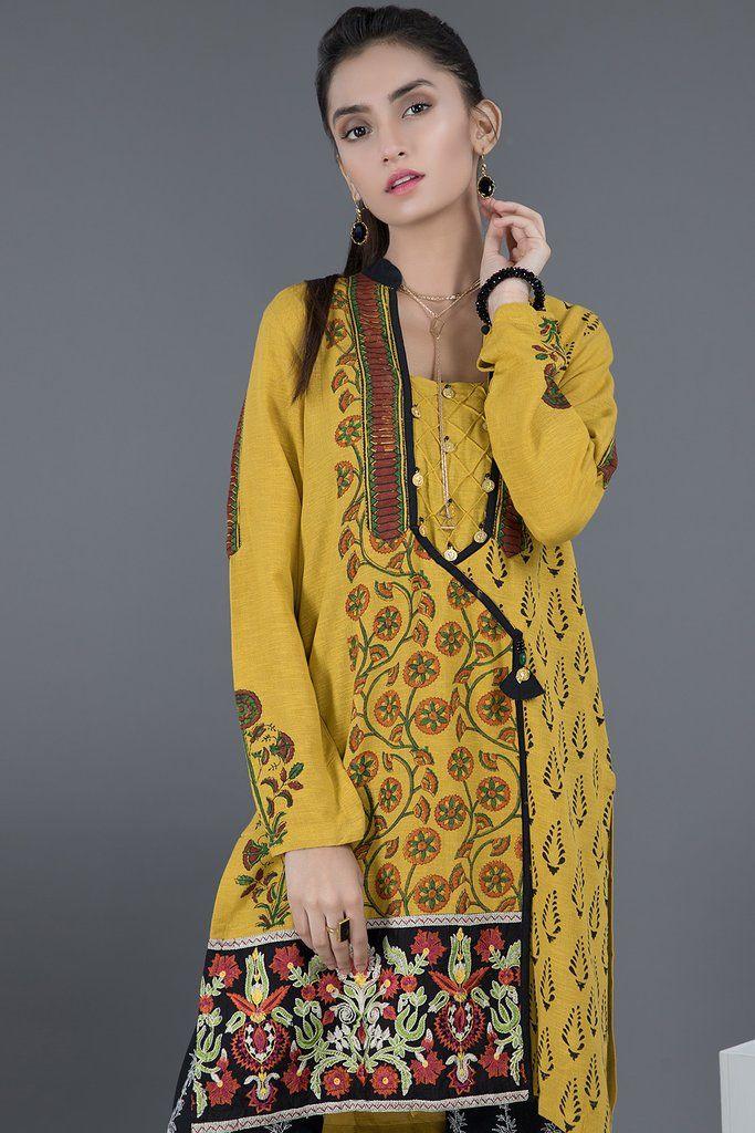 Warda Pakistani Designer Winter Shirts & Kurtis Collection ...