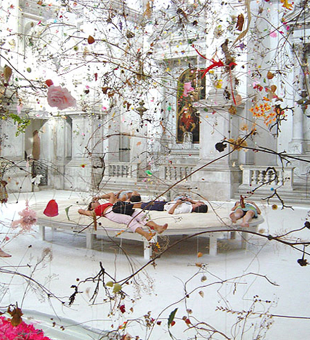 Falling Garden. This fantastical installation by Gerda Steiner and Jorg Lenzinger