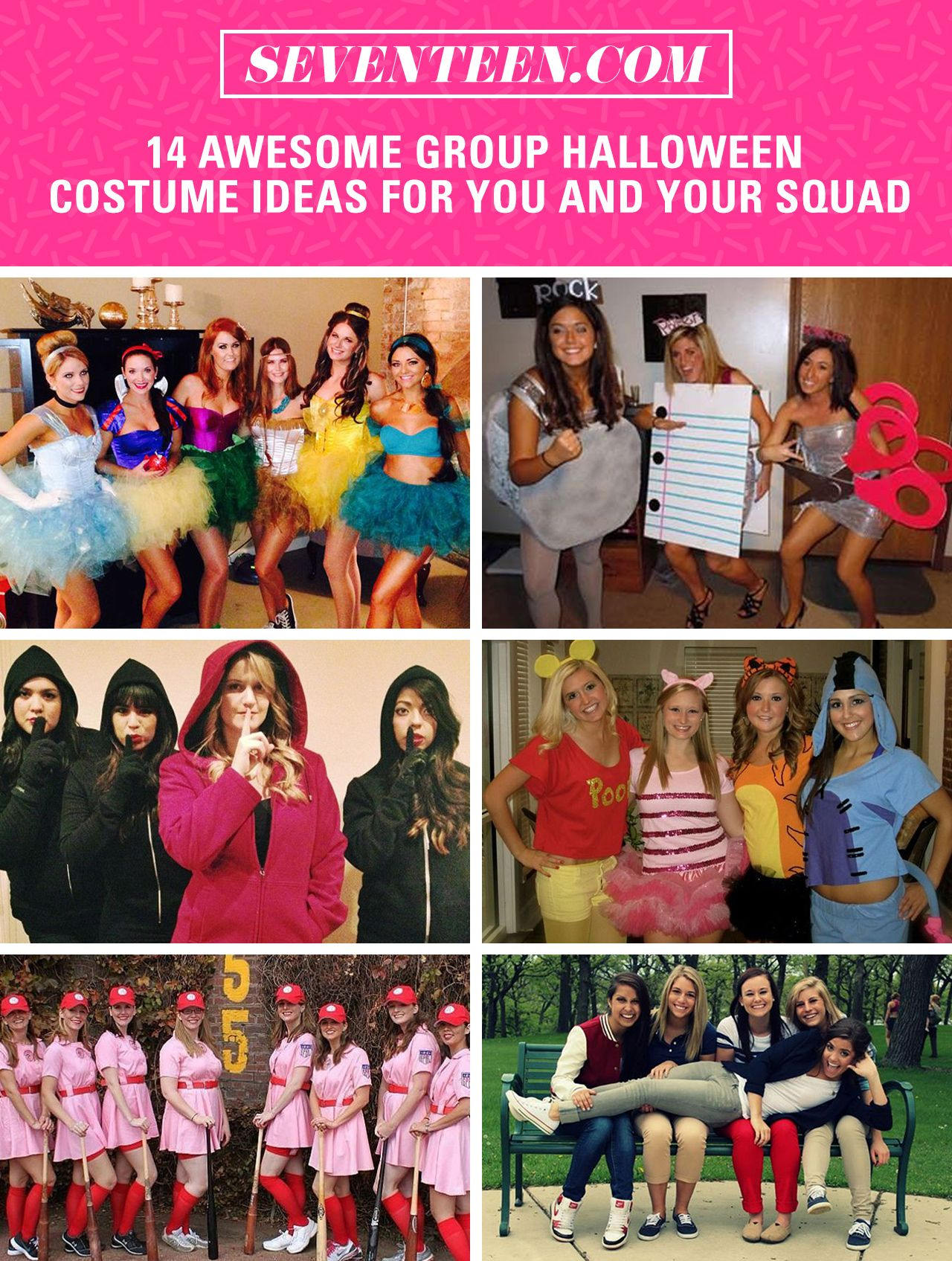 4 Seasons Group 16 genius group halloween costumes that your entire crew can
