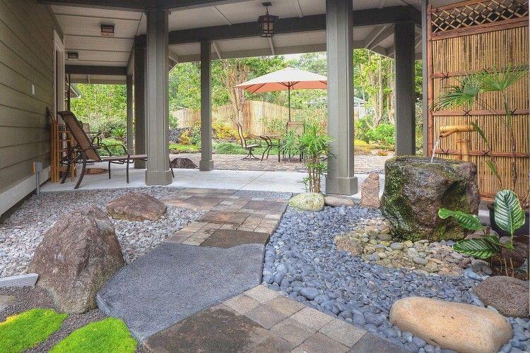 Luxury Craftsman Garden Bungalow, JapaneseTropical