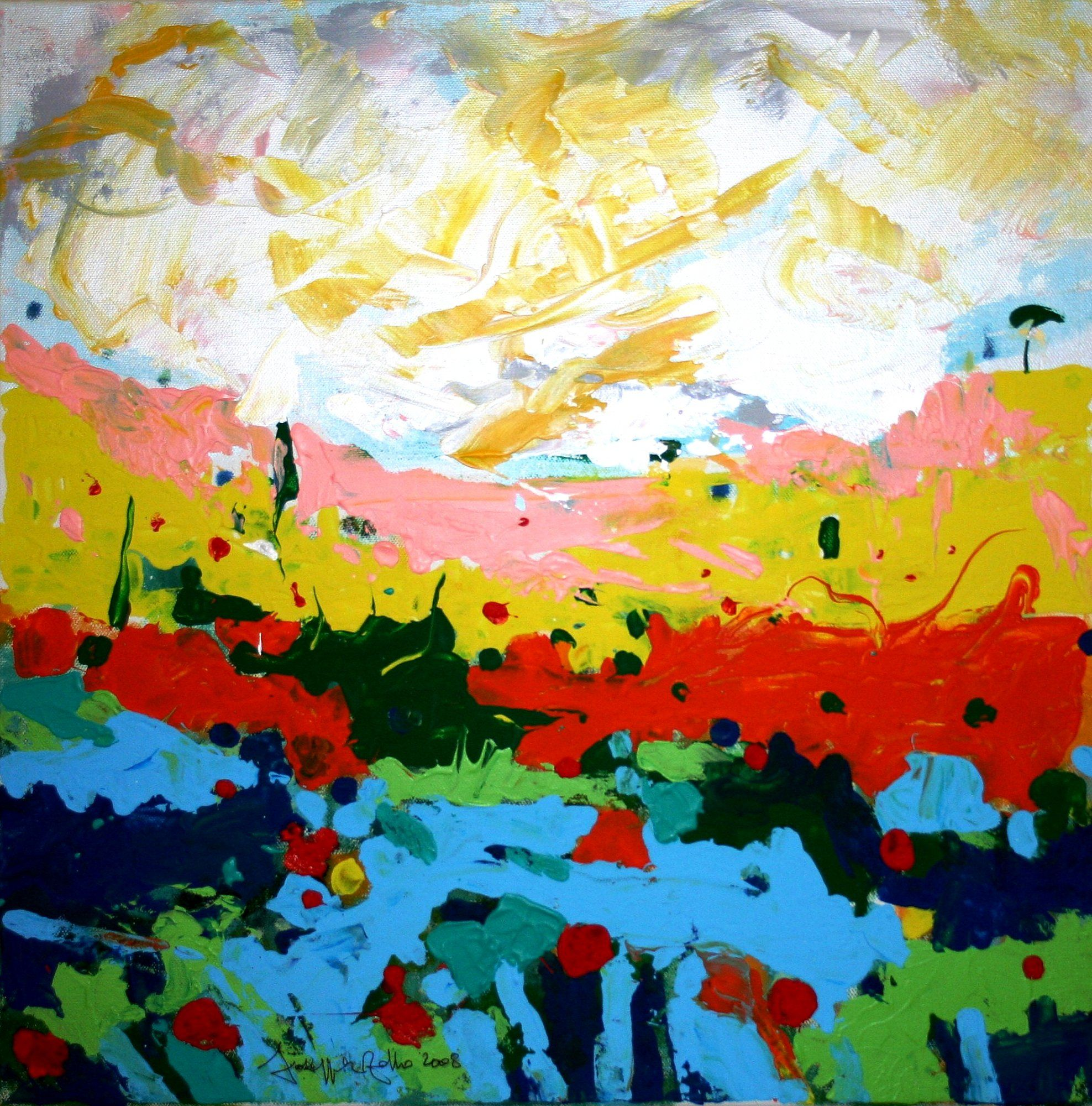 Bright Landscape Acrylic Google Search Summer Art Painting Selling Artwork