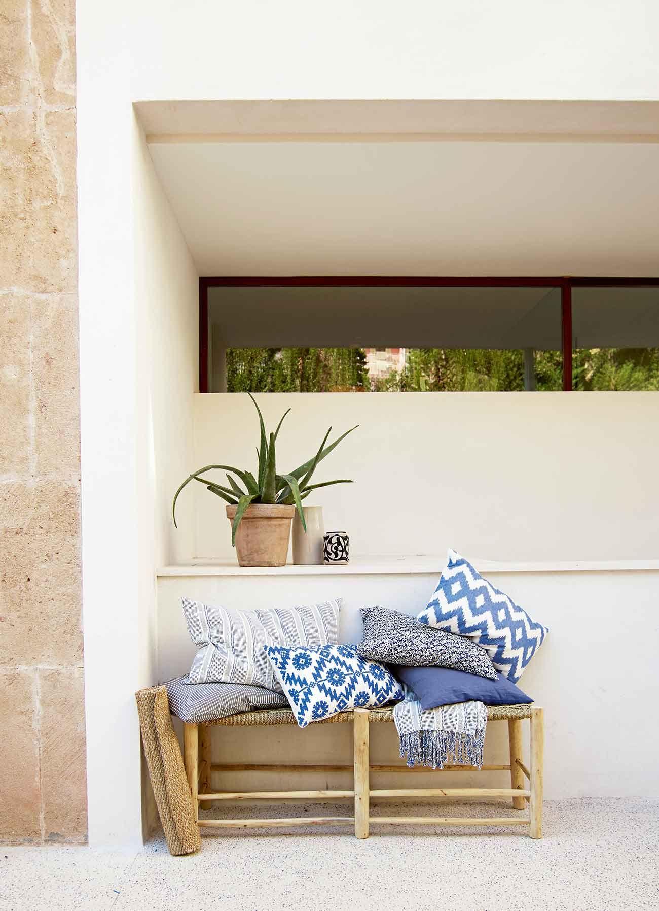 Tinekhome Kissen Blau Bambusmobel Mit Bildern Terrassen