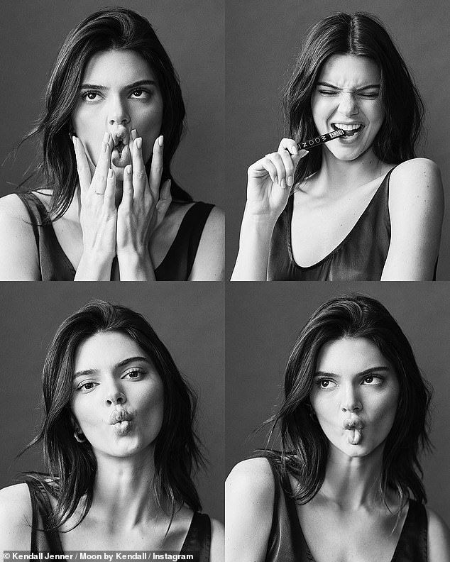 New Funny Face Kendall Jenner makes funny faces and does fish lips Kendall Jenner makes funny faces and does fish lips while in a black tank top | Daily Mail Online 9