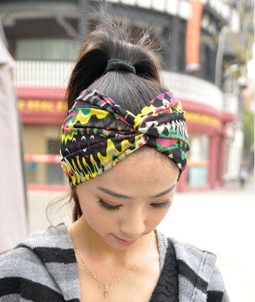 Thin The WavesTwist Headband Net Yarn Workout Hair Bands Women s Fashion Hair  Band Headband faf0dc352fc