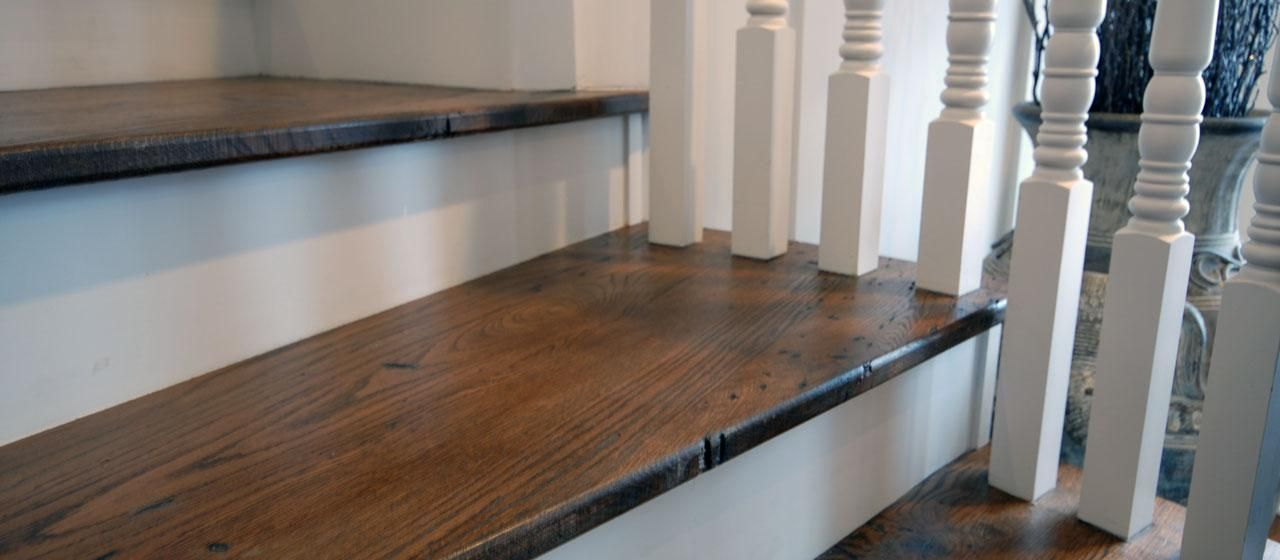 reclaimed antique oak custom stair treads