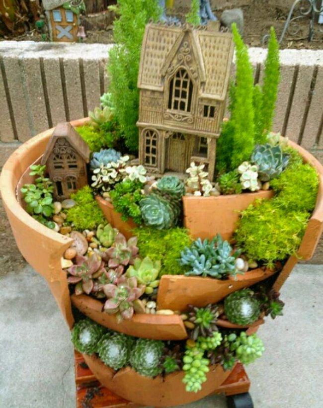 3 réaliser un joli mini jardin | Jardin miniature | Pinterest ...