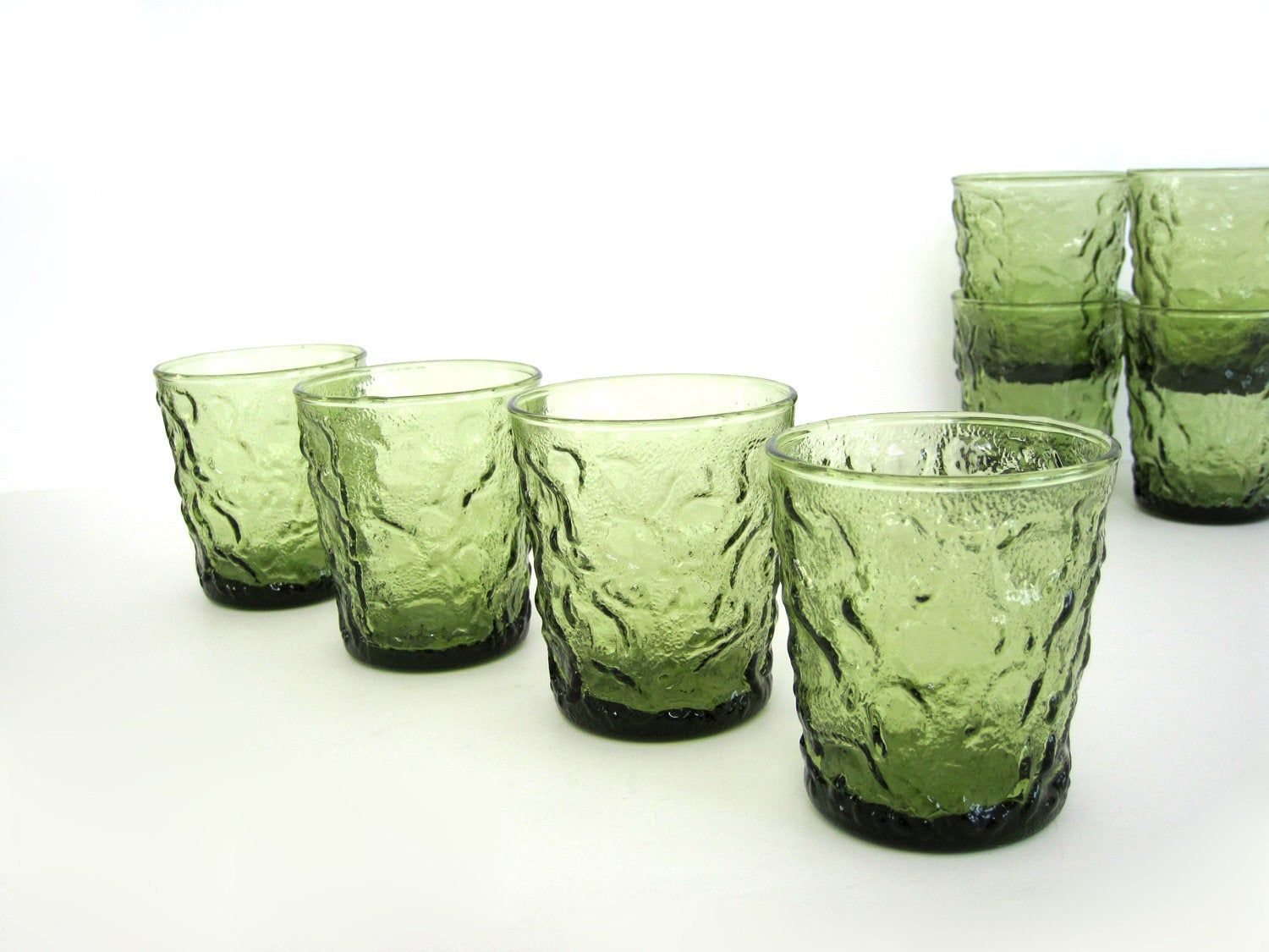 Anchor Hocking Glass Tumblers Set Of Four Glasses Vintage