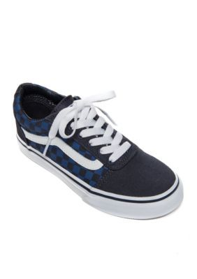Vans Boys  Boy s Ward Sneaker- Toddler Youth - Checkerboard Navy - 4M Youth 78c5068d3