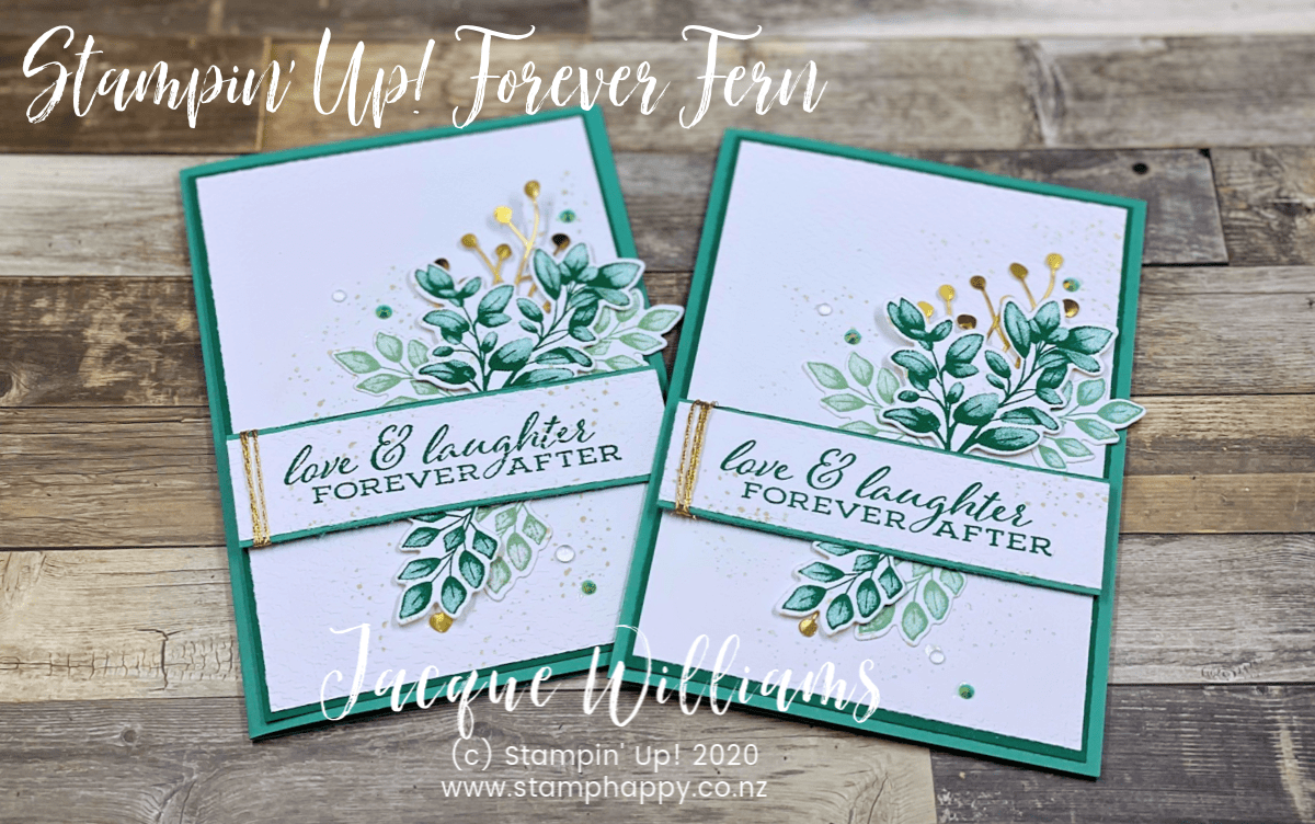 Just Jade With Forever Fern For A Non Traditional Wedding Card With Video Tutorial Stamp Happy Jacque Williams Stampin Up Demonstrator Wedding Cards Nontraditional Wedding Wedding Anniversary Cards