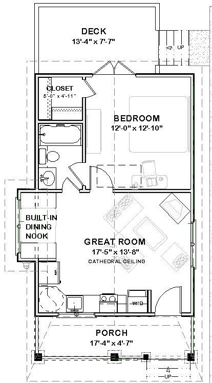Details About Tiny House Home Building Plans 1 Bed Cottage