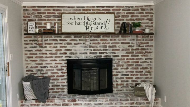 How to Paint a German Schmear Fireplace Makeover DIY