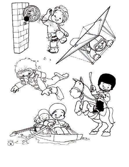 Deportes. Fichas para imprimir y colorear | Sport and Exercise ...