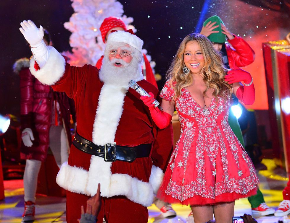 Celebs Spotted With Santa! Mariah carey, Popular