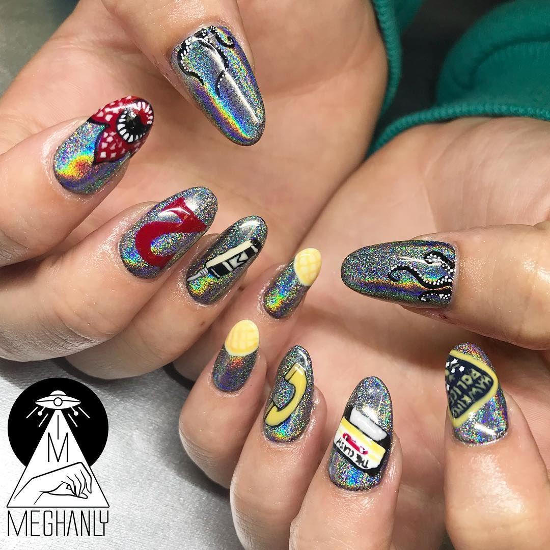Stranger Things 2 Nail Art Designs Instagram Manicure
