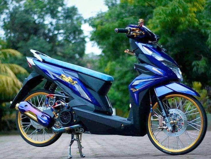 Konsep Modifikasi Honda Beat Simpel Jari Jari Ring 17 Drag Bike Pembalap Gambar Karakter Mobil