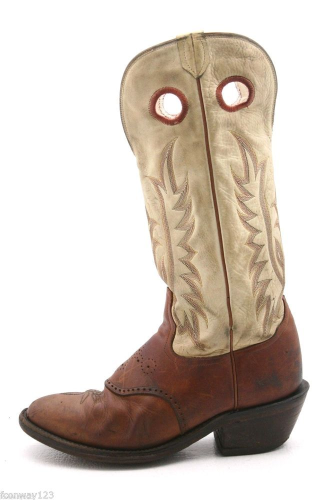 9a1a81c593f Details about VTG MENS TONY LAMA COWBOY LEATHER BROWN BOOTS SIZE 11 ...