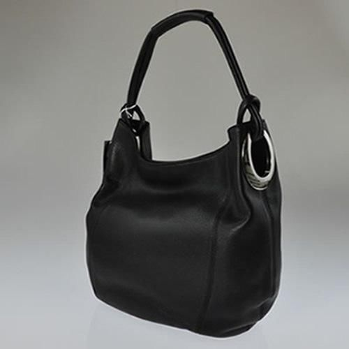 New Oroton Kiera B Hobo Black Leather Las Bag Handbag Rrp 495 Bnwt Womens